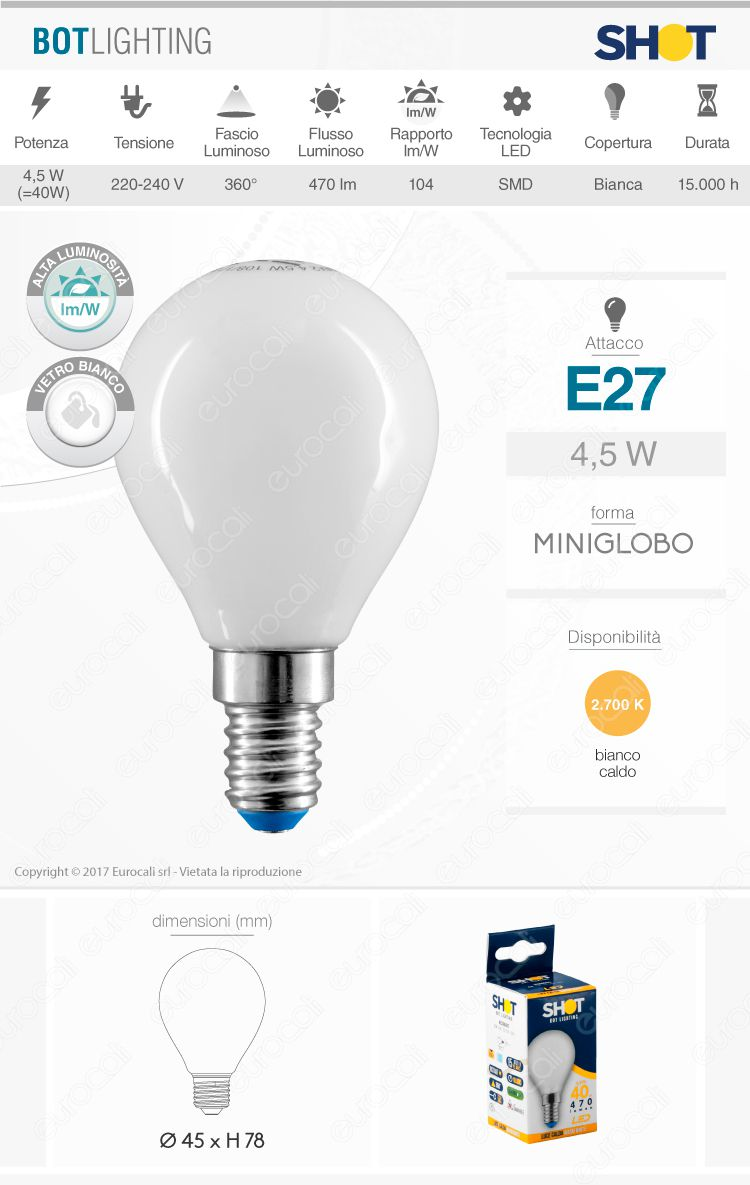 Lampadina LED filamento Bot Lighting E14