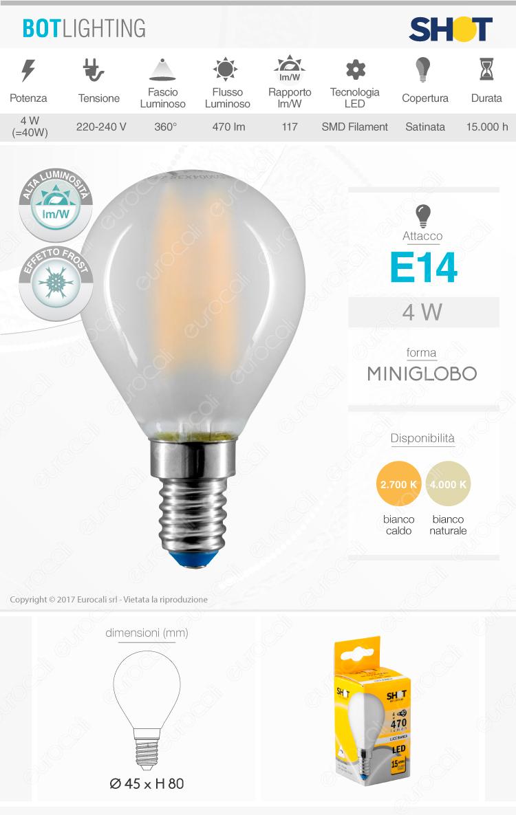 Lampadina LED filamento Bot Lighting E14