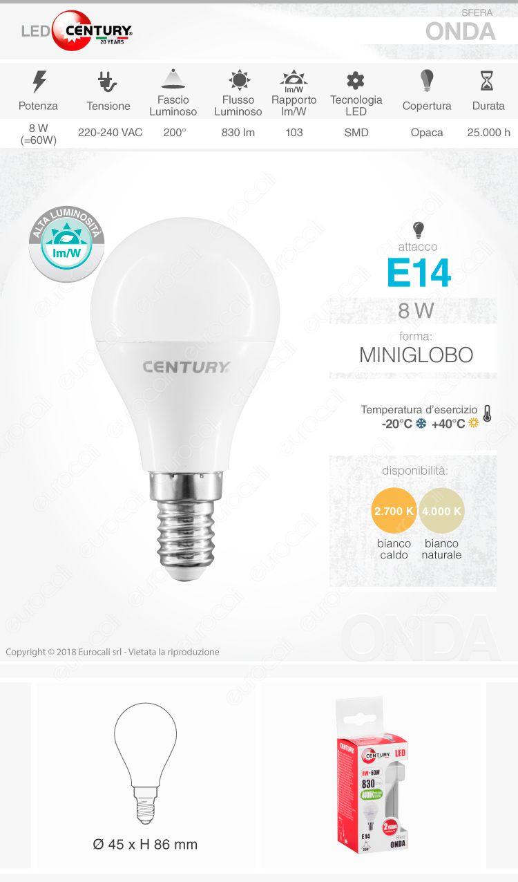 Lampadina LED Century E14