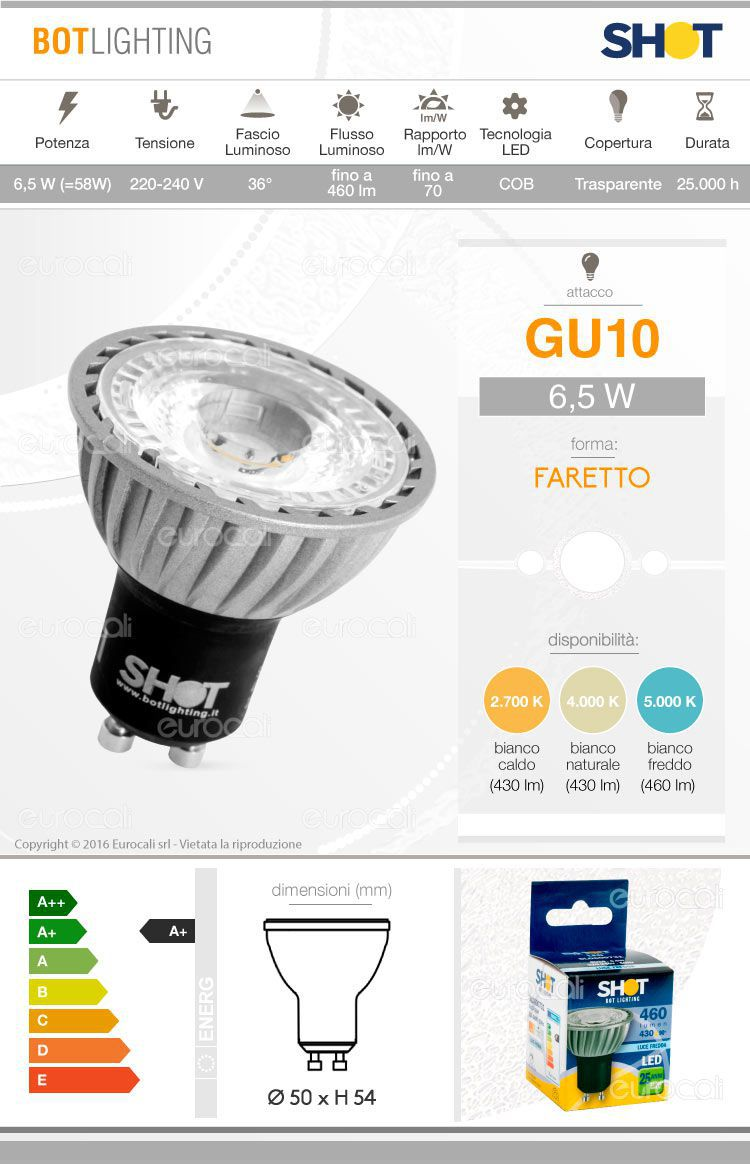 Bot Lighting Lampadina LED GU10