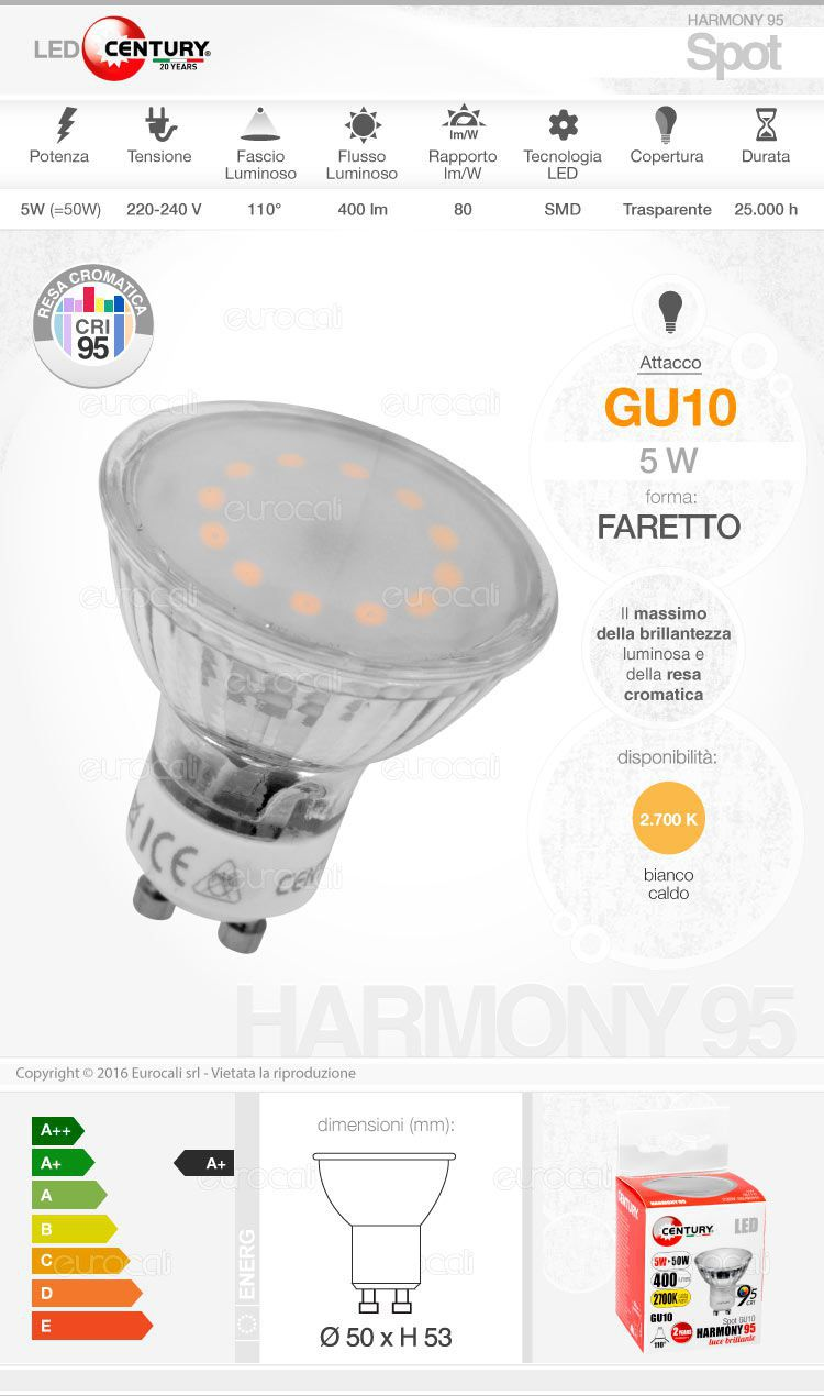 Century Lampadina LED gu10
