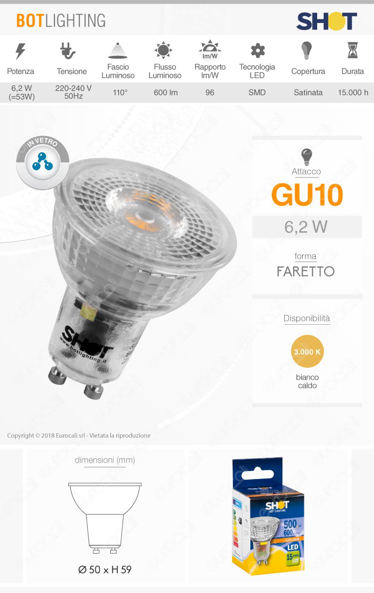 Lampadina LED Ideal Lux GU10