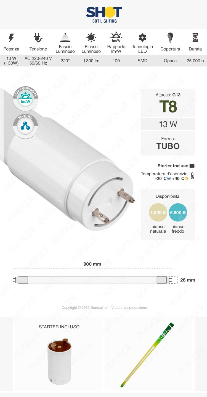 Tubo led t8 g13 bot