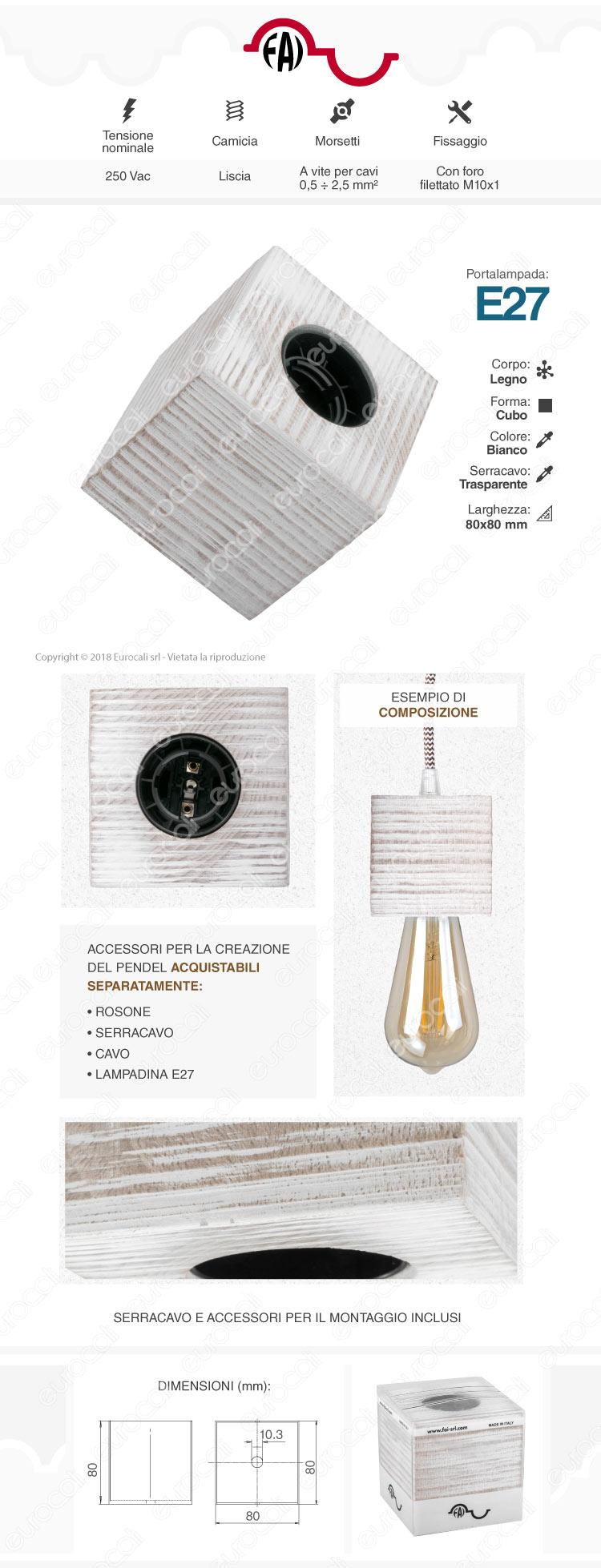 FAI Bicchiere Portalampada