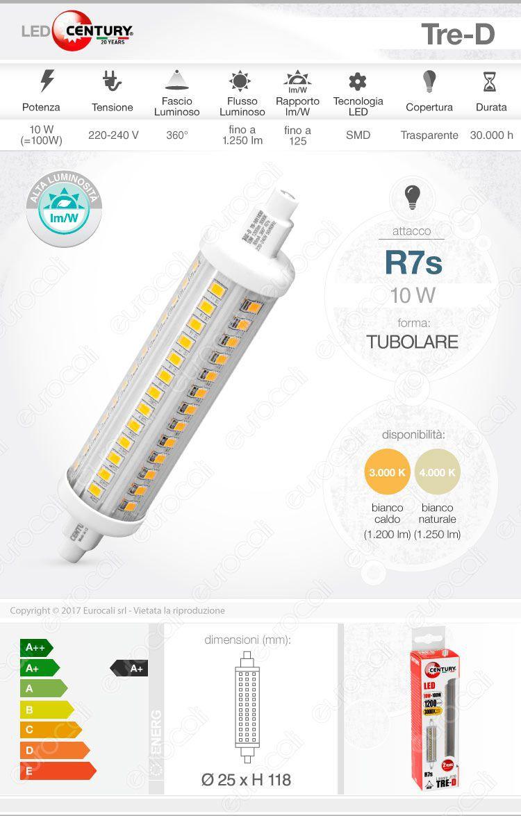 lampada led r7s century