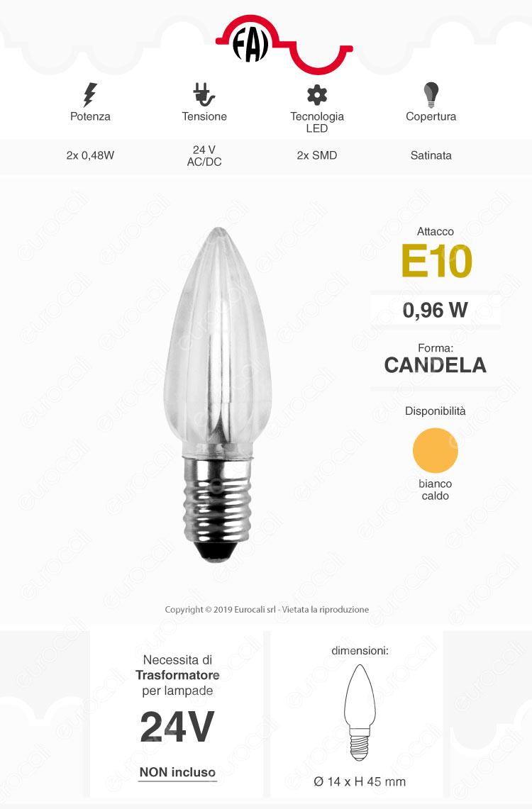 FAI Lampadina LED E14 Votiva