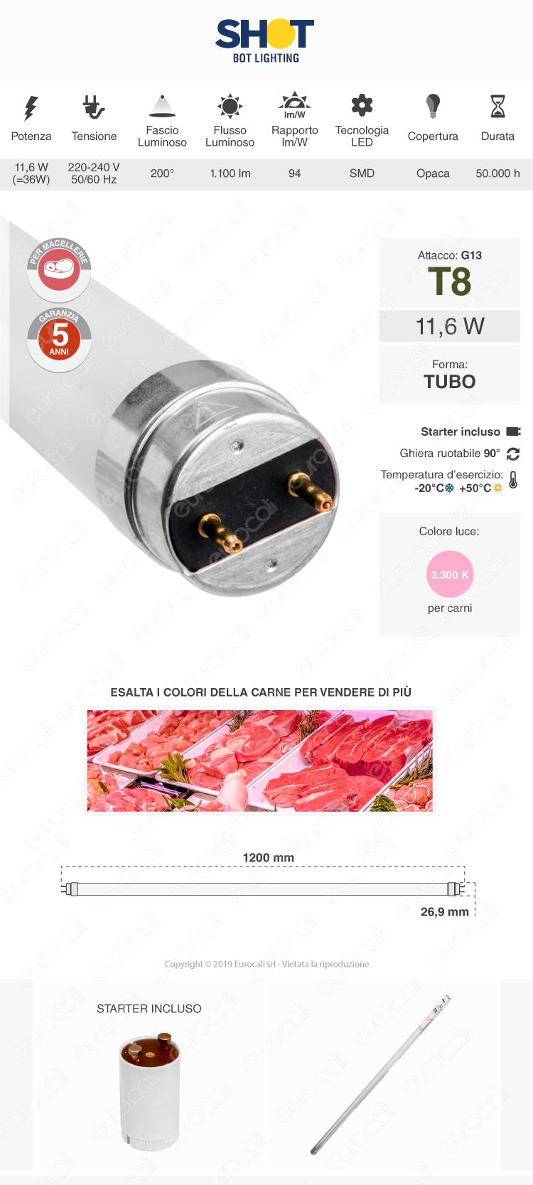 Tubo led t8 g13 bot lighting