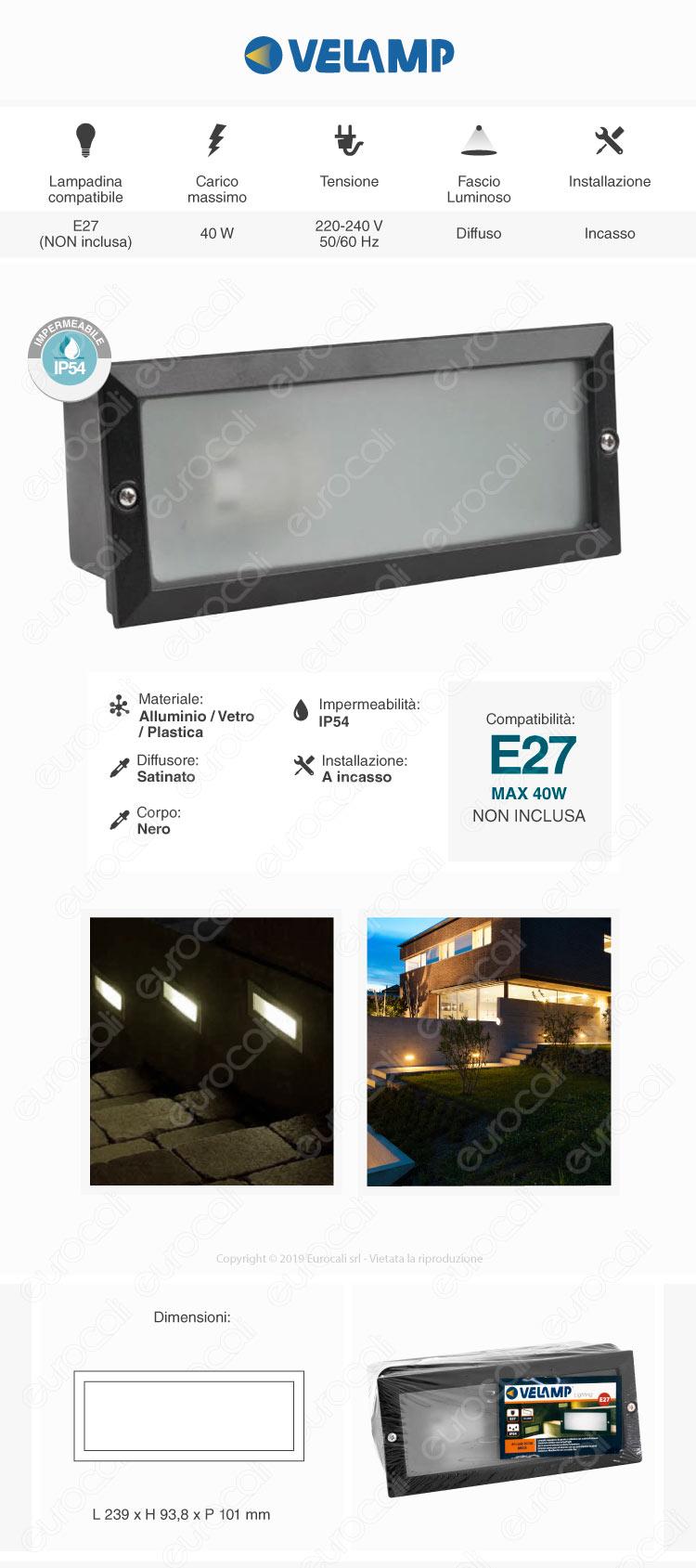 Velamp Segnapasso Portalampada E27