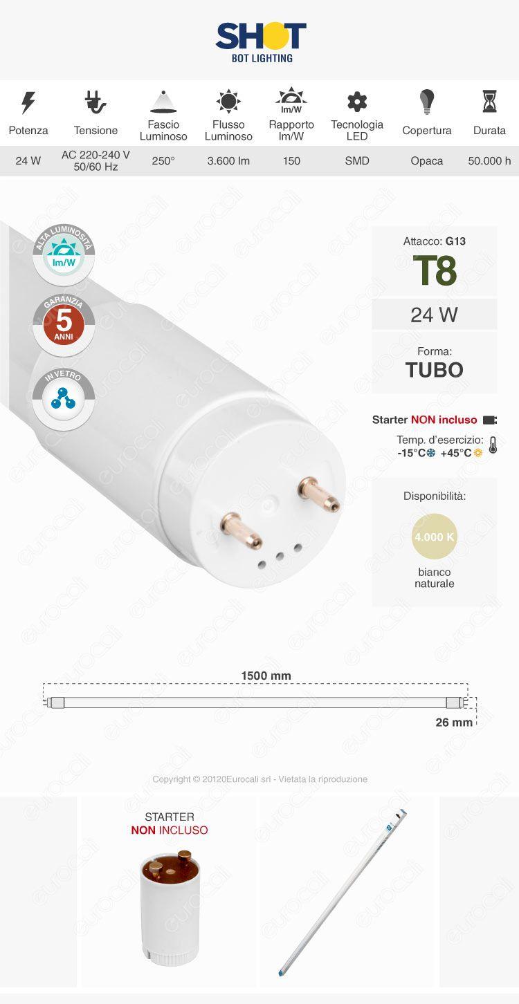BOT Lighting Tubo LED Nano Plastic T8 G13