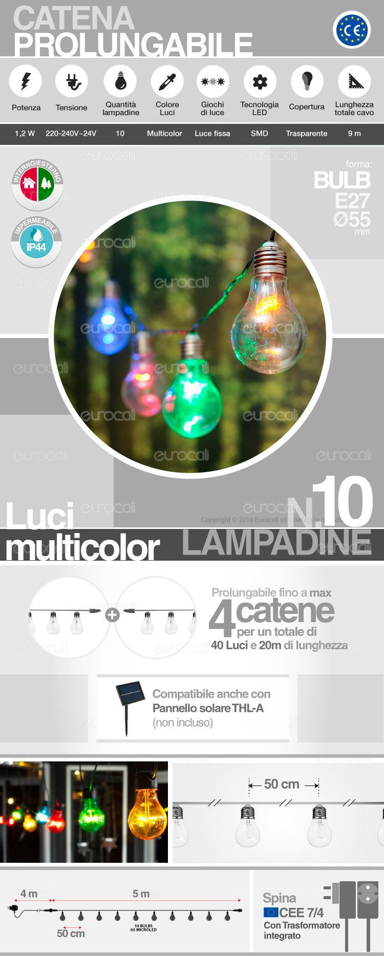 catena lampadine LED