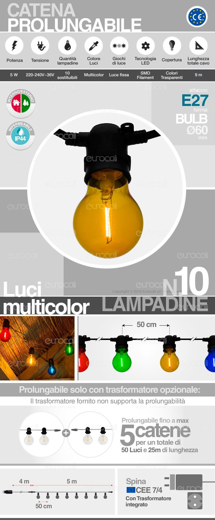catena lampadine LED