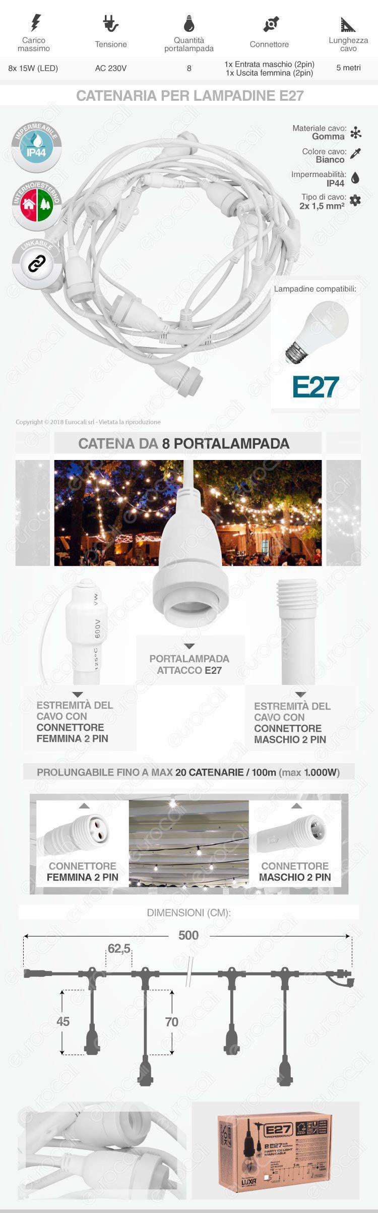 Catenaria Lampadina LED E27