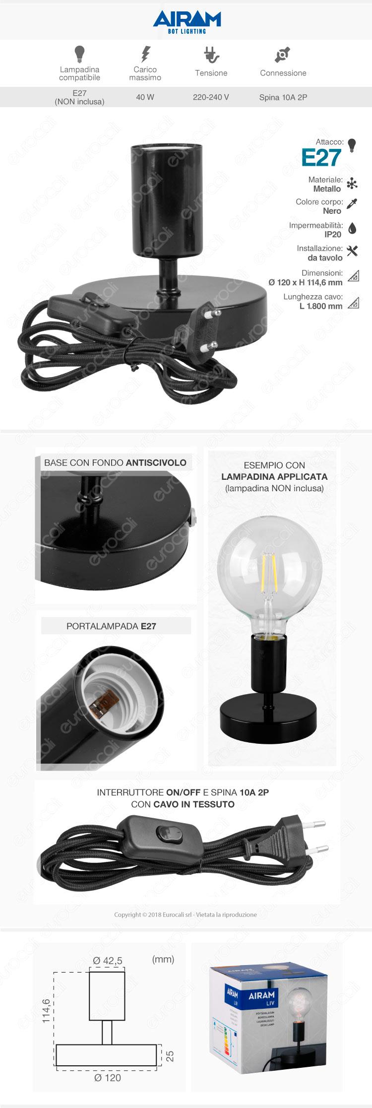 lampada da tavolo BOT