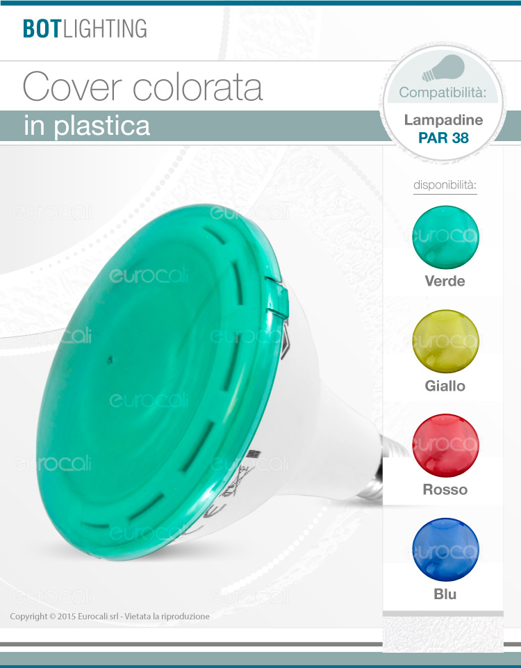 Cover colorata per PAR38 LED