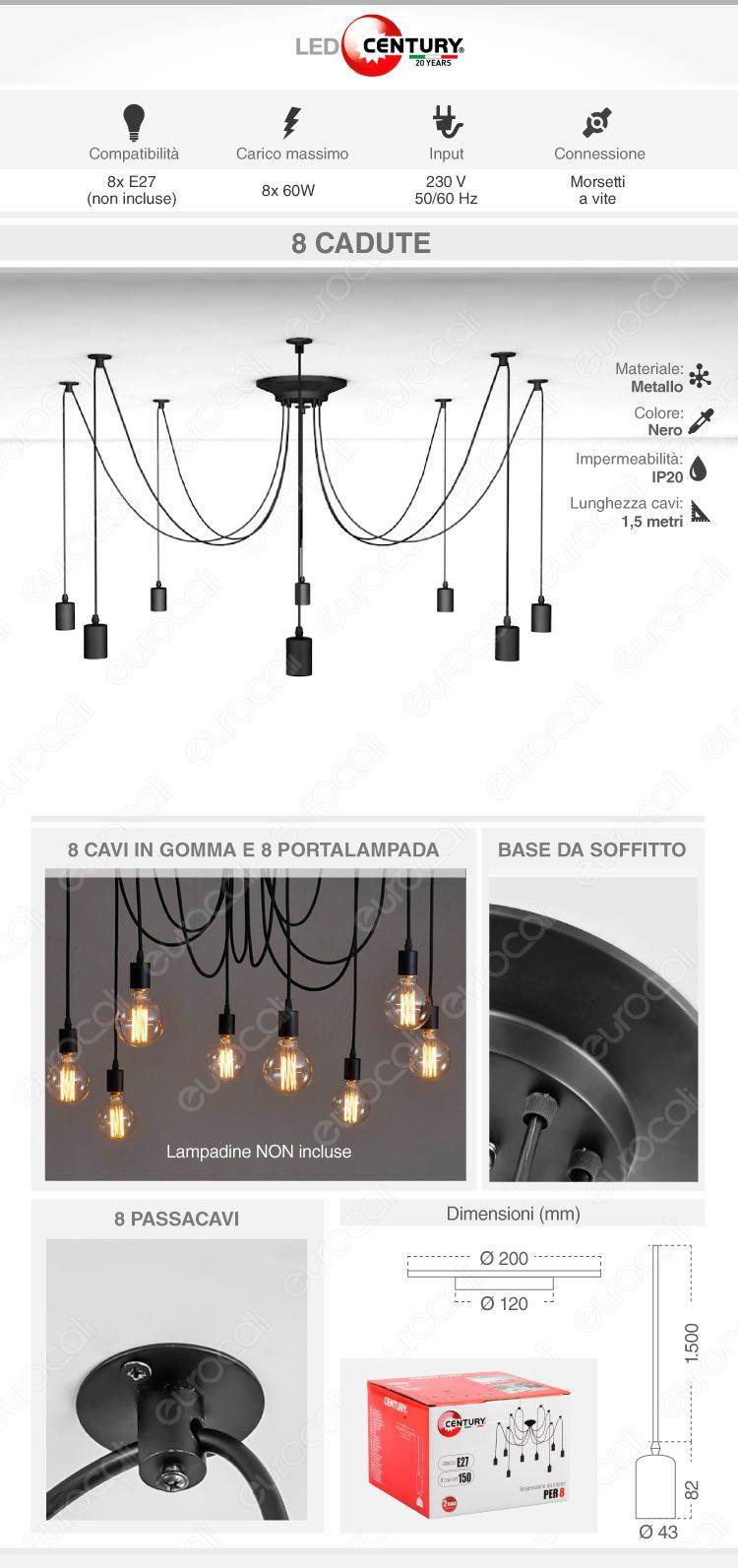 lampada sospensione century
