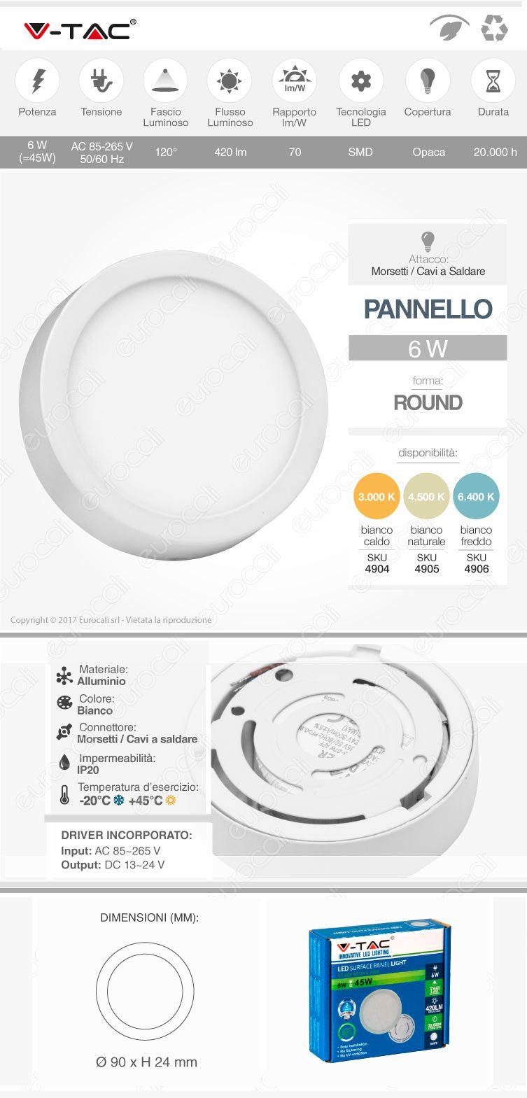 Pannello LED V-Tac
