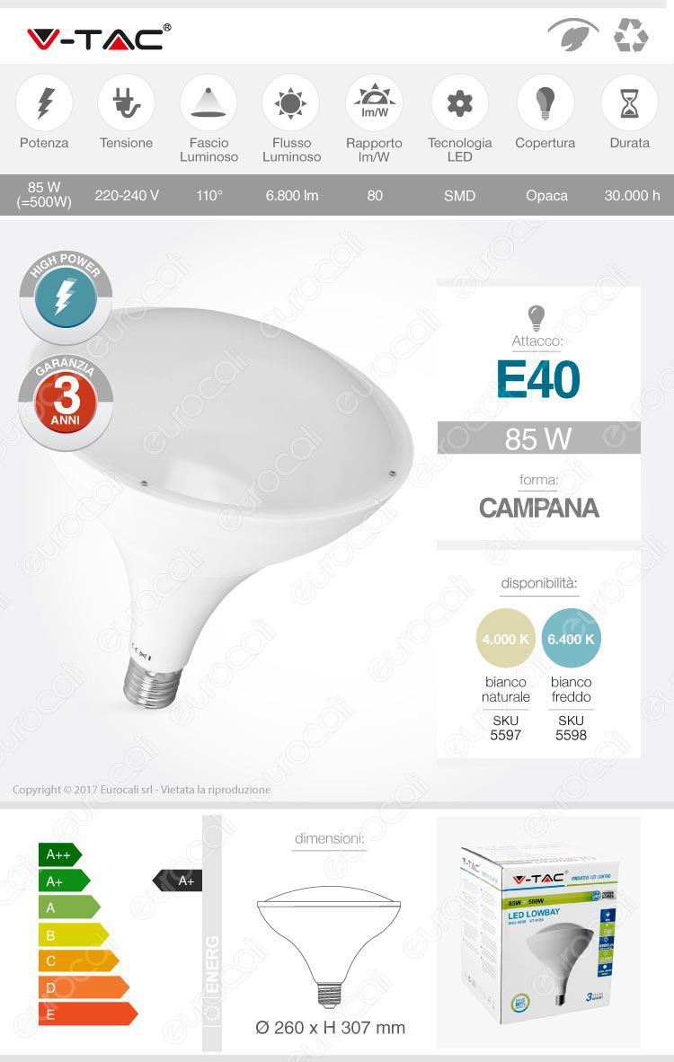 Lampadina LED highbay v-tac