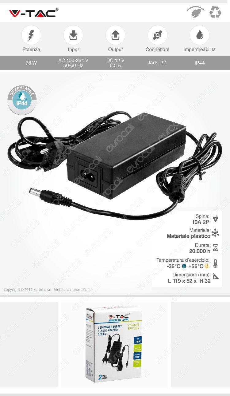 Alimentatore per strisce led plug & play