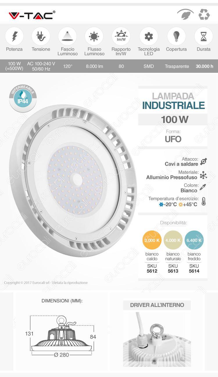 lampada industriale ufo led