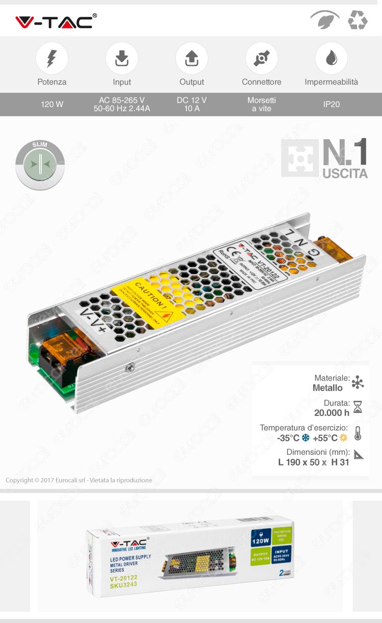 v-tac alimentatore VT-20122