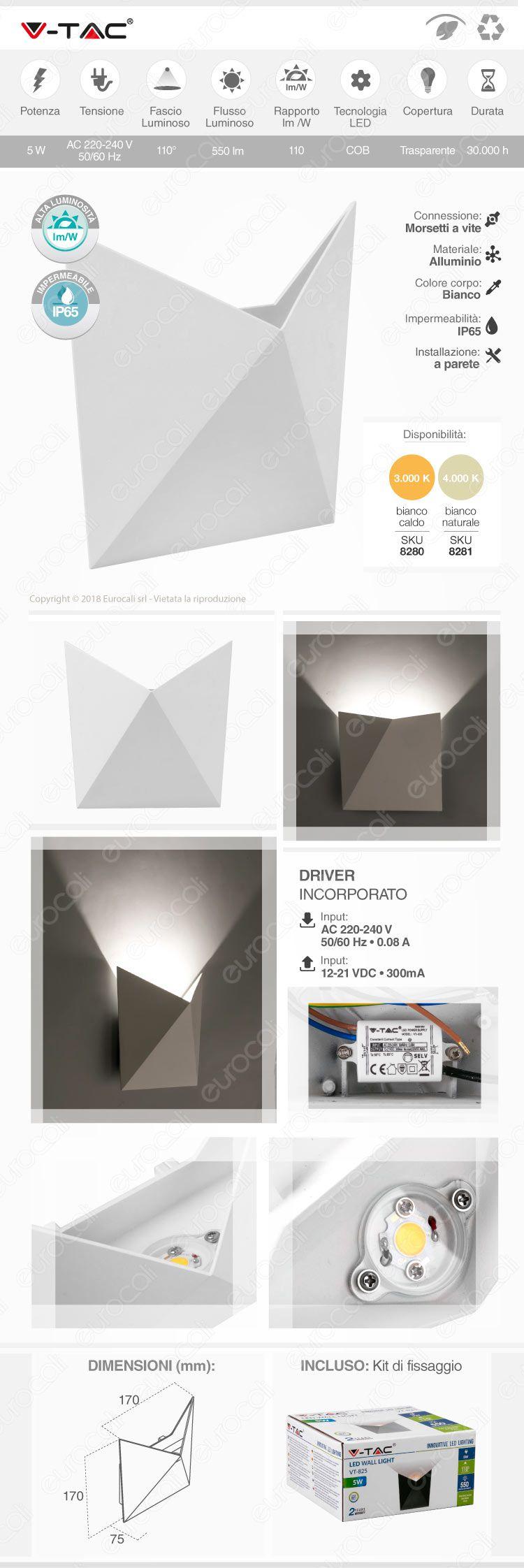 wall lamp v-tac