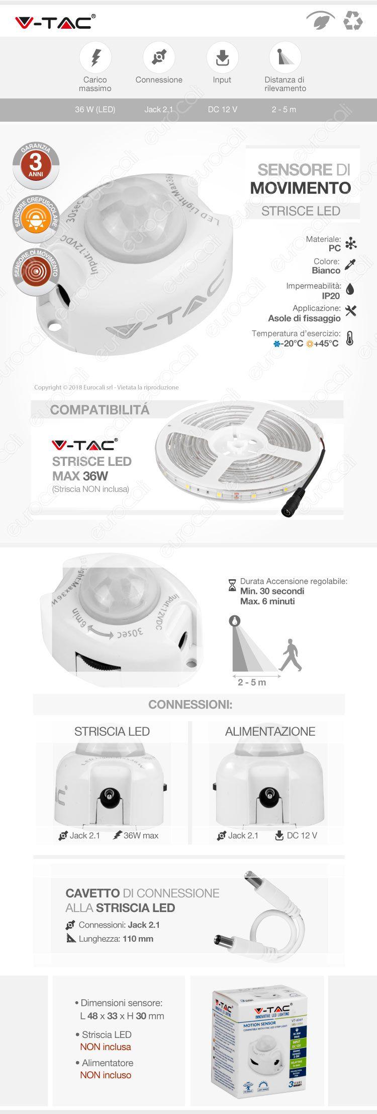 Sensore di movimento v-tac