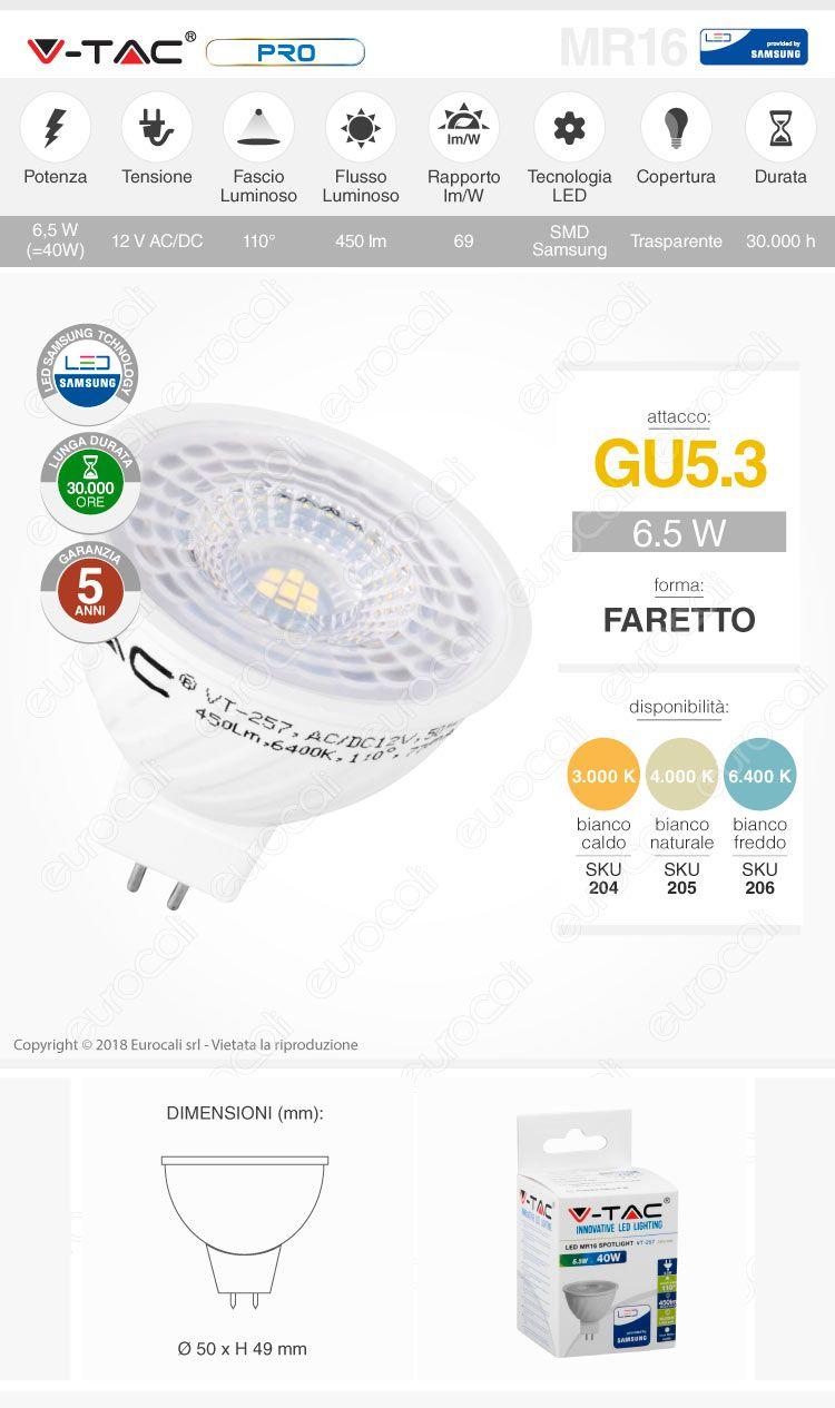 v-tac Lampadina LED GU5.3