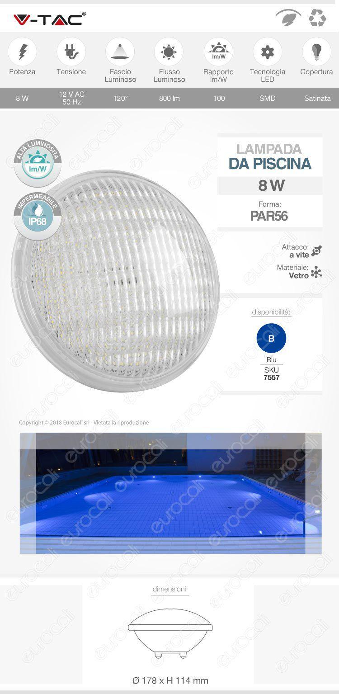 V-Tac Lampadina LED piscina