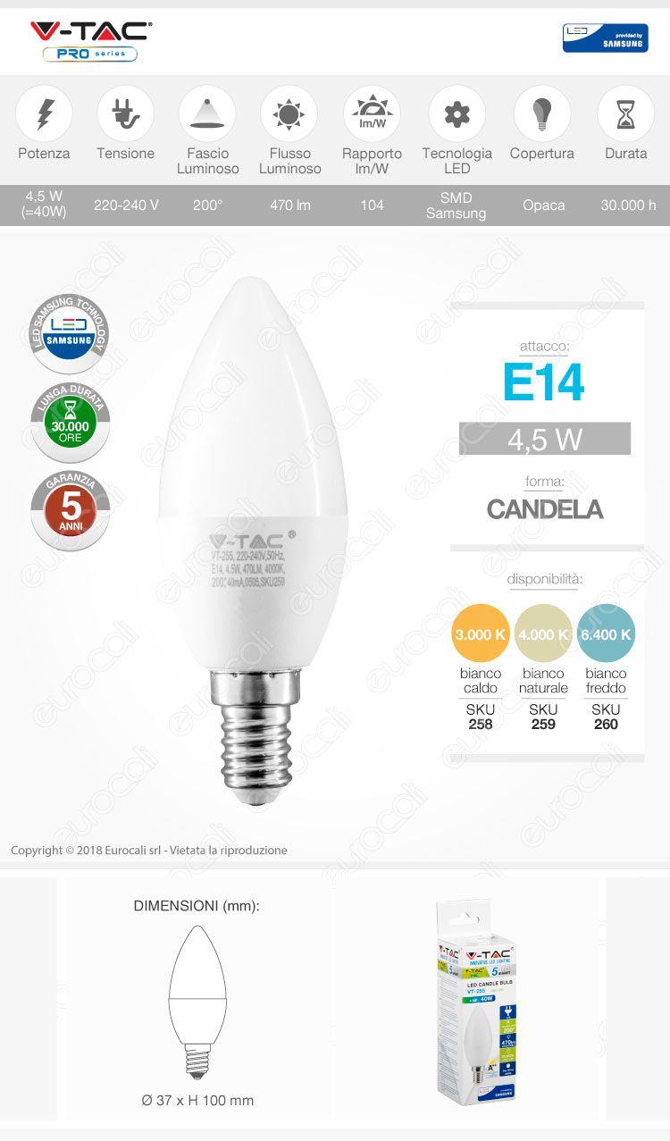 v-tac Lampadina LED E14