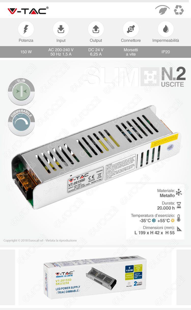 alimentatore V-Tac Slim Series