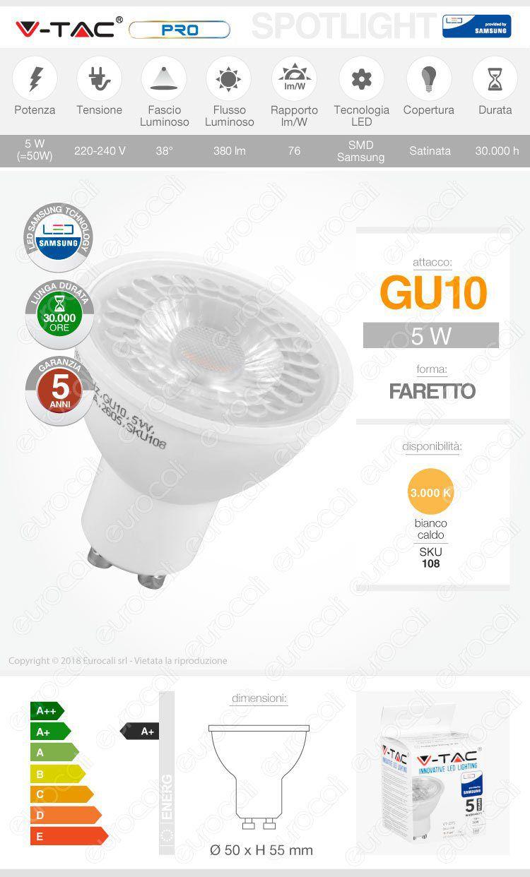 v-tac Lampadina LED GU10