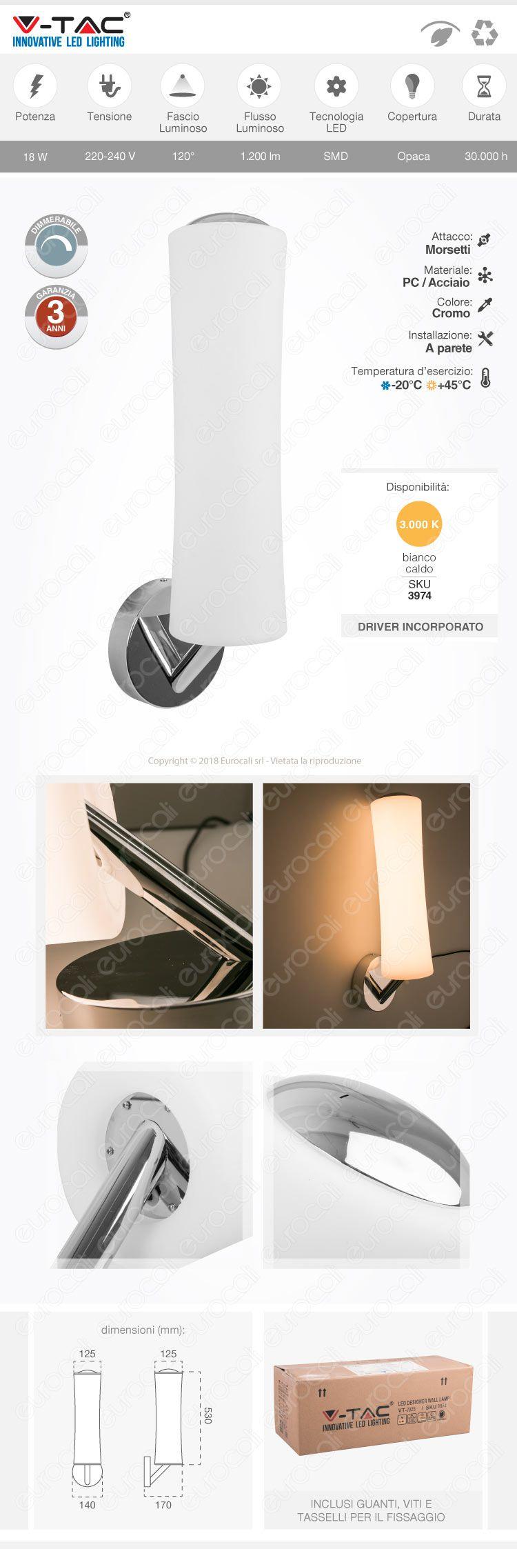 lampada led da muro
