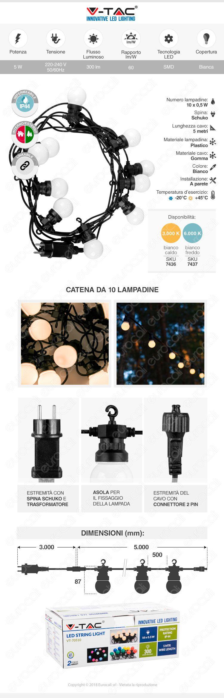 catena lampadine LED V-tac VT-70510