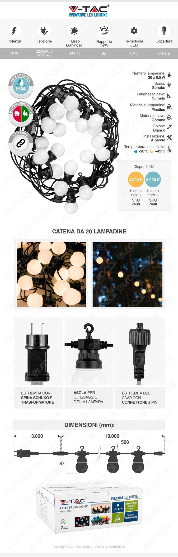 catena lampadine LED V-tac VT-71020