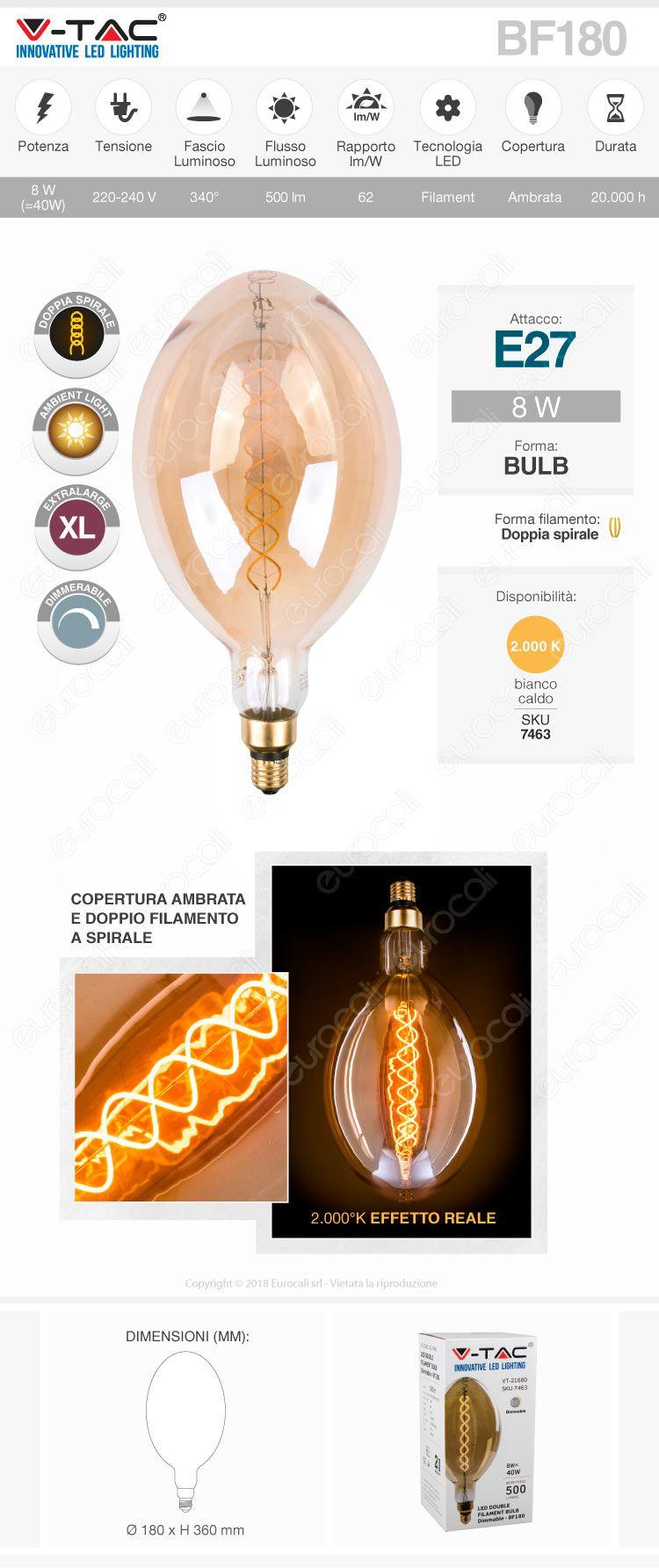vtac bulb gigante ambrata