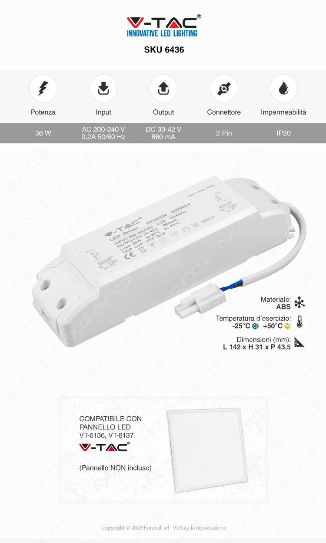 V-Tac Driver per Pannelli LED 36W
