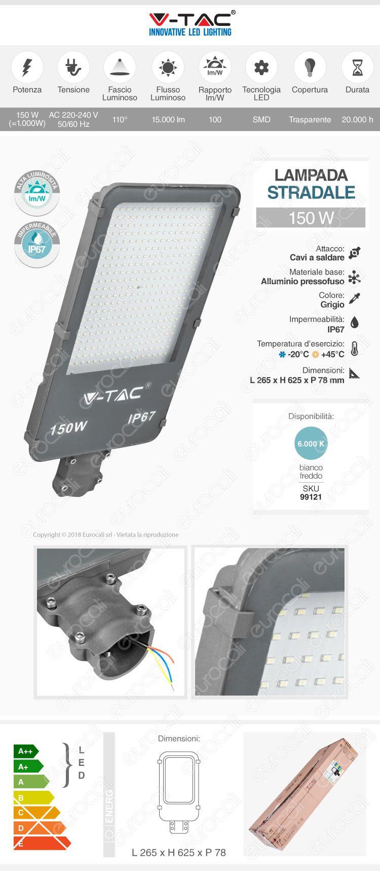 Lampione stradale led v-tac