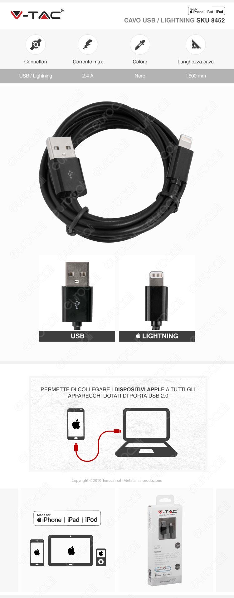 V-Tac Adattatore Singolo Universale Spina 10A Colore nero