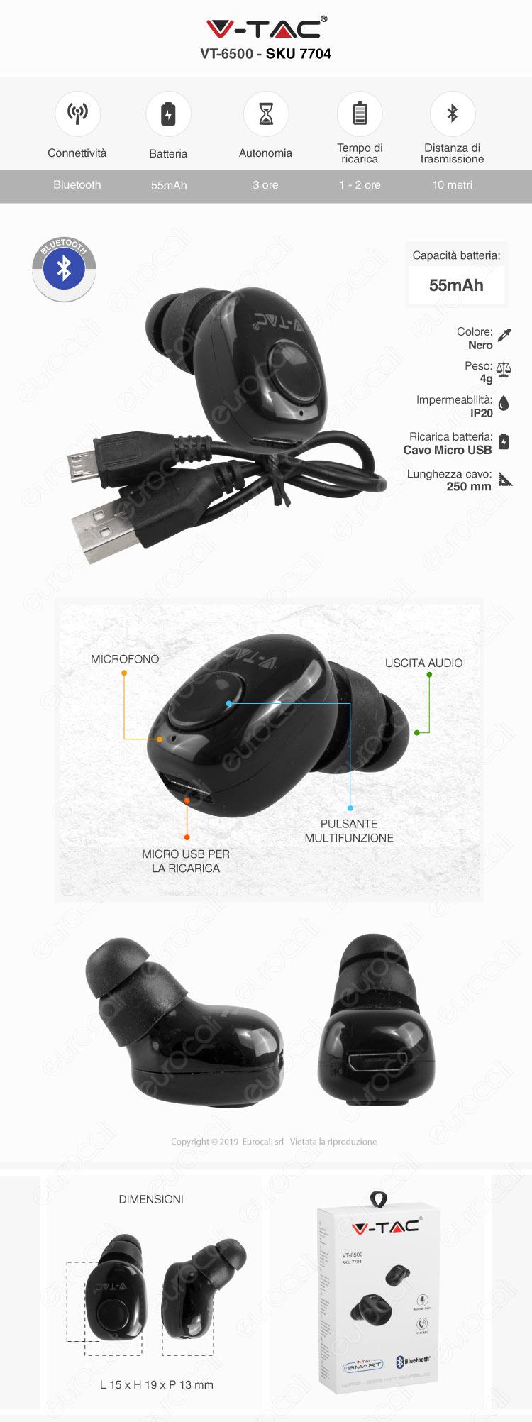 V-Tac VT-77 Lampada LED da Muro 2W con Pannello Solare e Chip Samsung