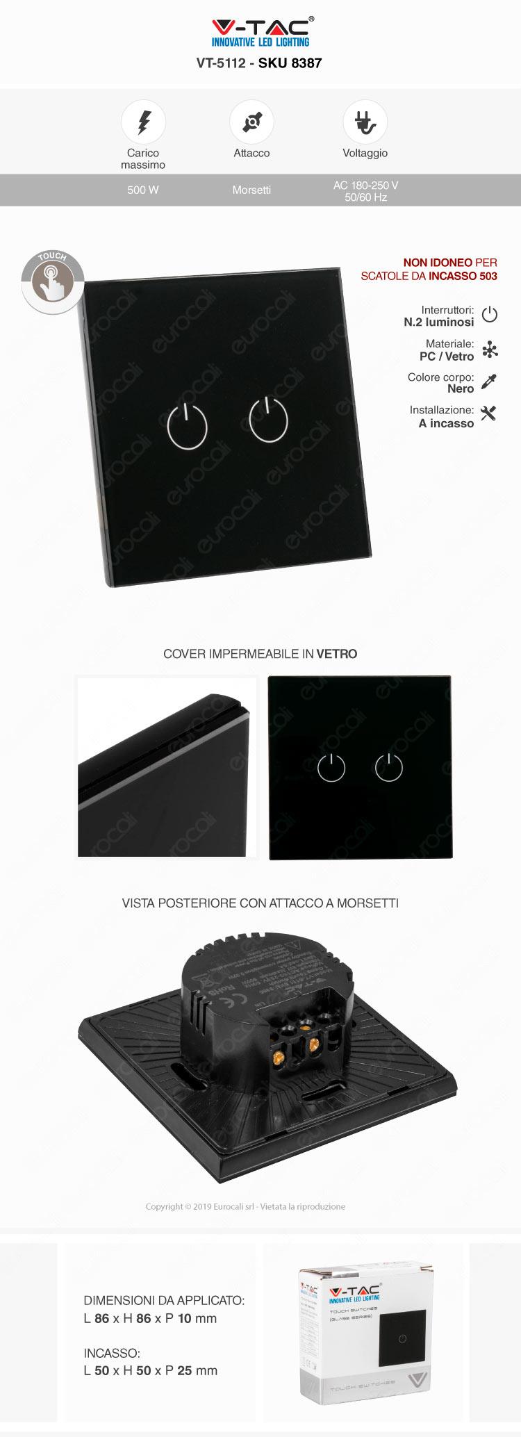 V-Tac Interruttore Touch