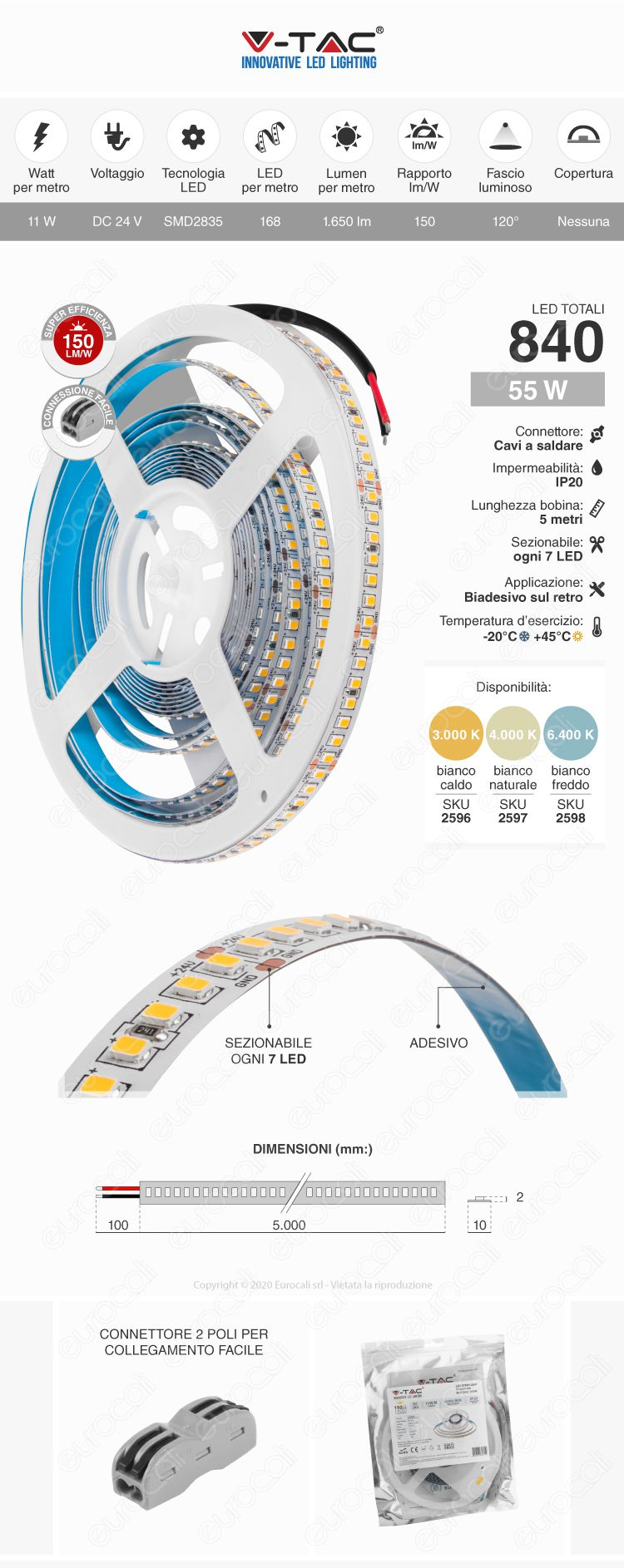V-Tac Striscia LED flessibile