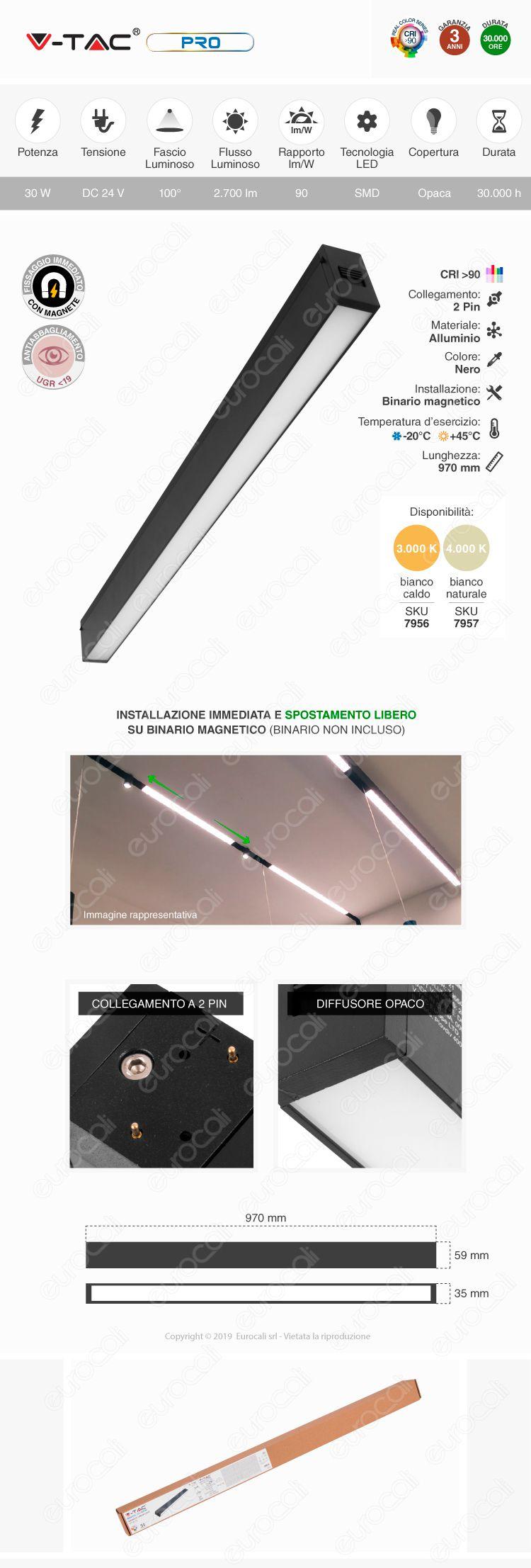 V-Tac PRO VT-4131 Magnetic Linear Light