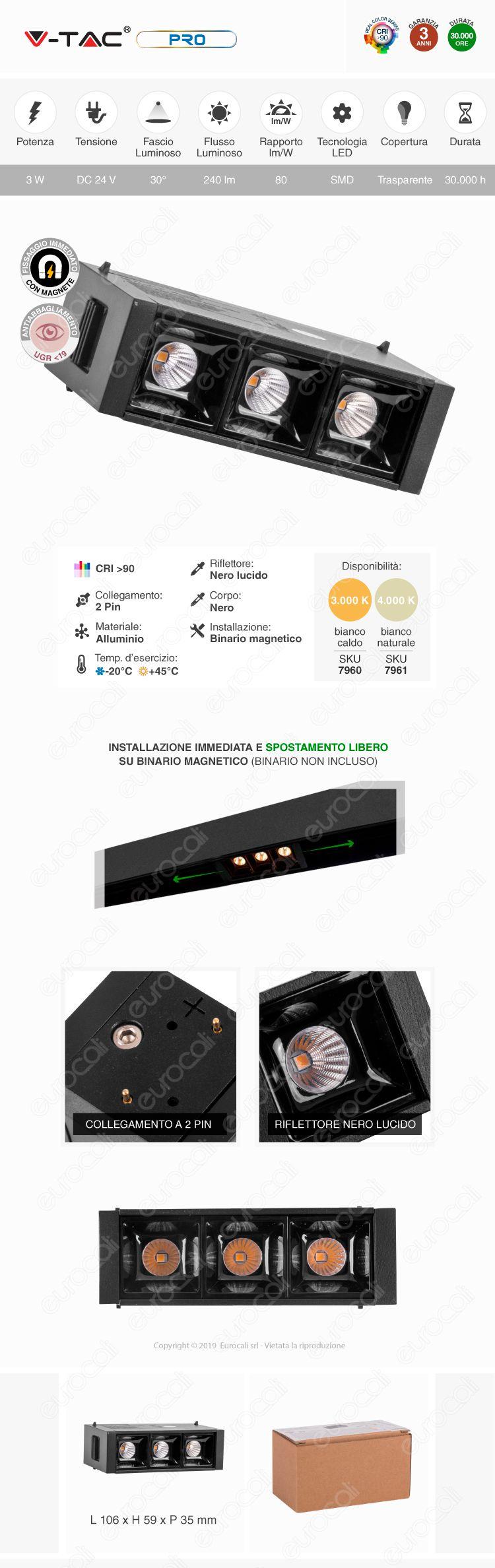 V-Tac PRO VT-4143 Magnetic Linear Spotlight