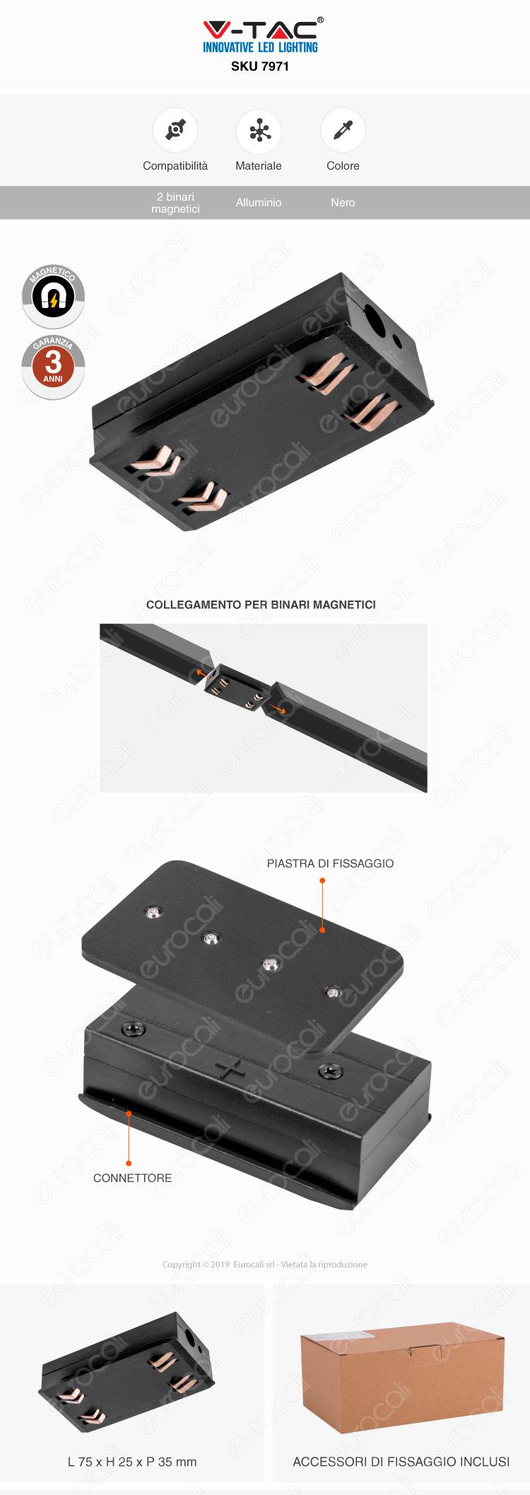 V-Tac Power & Track Connector