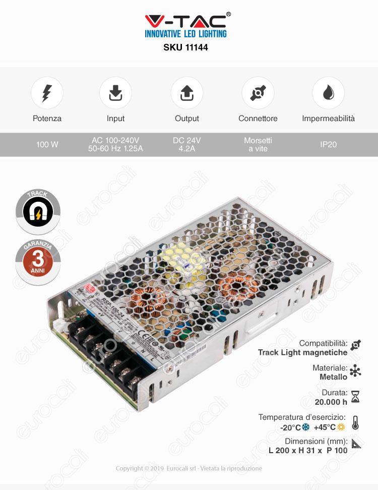 V-tac Alimentatore Track Light Magnetiche