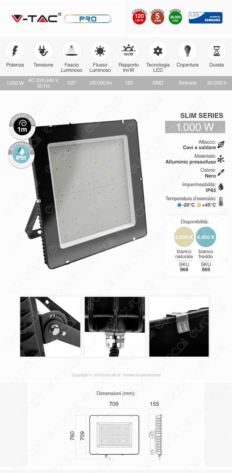 V-Tac PRO Faro LED 1000W