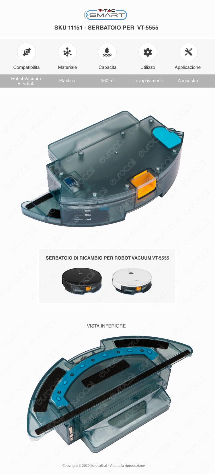 V-Tac Robot Aspirapolvere Lavapavimenti