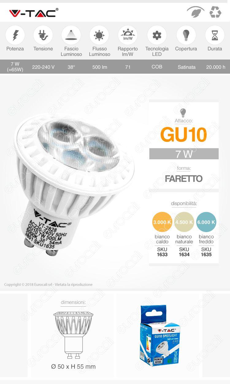 LED V-TAC VT-2828 GU10