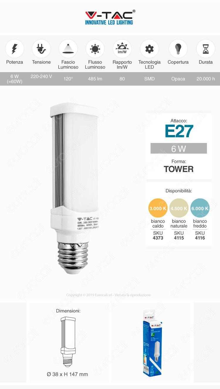lampadina led e27 tower