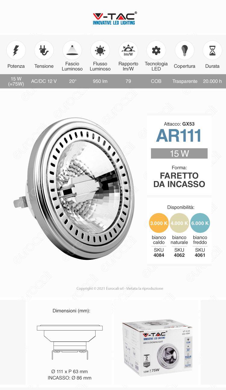 LED V-TAC VT-1110 AR111